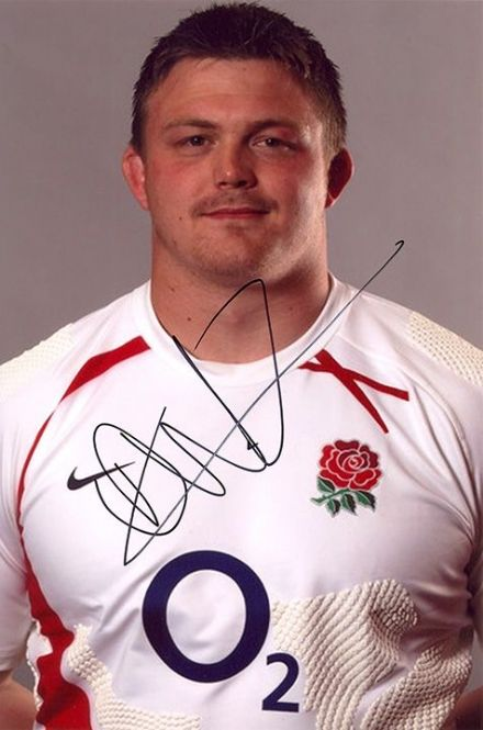 Dave Wilson, Bath & England, signed 9x6 inch photo.